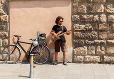 Florença Músico da rua Fotos de Stock Royalty Free