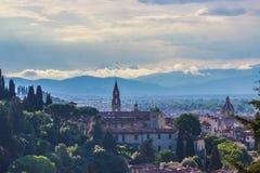 Florença, Palazzo Vecchio, della Signoria da praça Foto de Stock Royalty Free