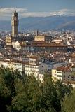 Florença, Palazzo Vecchio, della Signoria da praça. Fotografia de Stock Royalty Free
