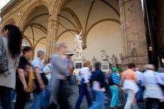 Florença, Toscânia - 9 de abril de 2011 - della Signoria da praça Imagens de Stock