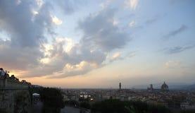 Florence à partir du dessus photographie stock