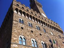 florence Италия Башня Arnolfo в Palazzo Vecchio стоковые фотографии rf