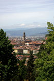 Florence. Tuscany,Italy,view of the city with the Palazzo Vecchio Stock Images