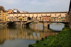 Florence. Tuscany,Italy, the Ponte Vecchio on the river arno Stock Images