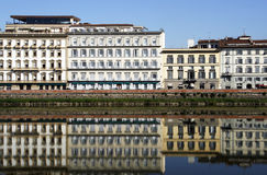 Florence. Buildings by the Arno river in Florence, Tuscany, Italy Royalty Free Stock Image