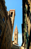 Florence. The tower with encent architecture Stock Photo