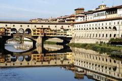 Florence. Ponte Vecchio - famous old bridge in Florence on the Arno river, Italy Stock Images