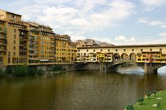 Florence. Old bridge in Florence- ponte Vecchio Stock Photography