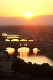 Florence. The most beautiful sunset viewpoint in Florence stock photos