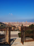 Florence. City view from the hill, photo was taken in February Royalty Free Stock Image