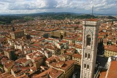 Florence. The view from Duomo of Florence Royalty Free Stock Photos