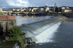 Florence. The river Arno in Florence, Italy Stock Photo