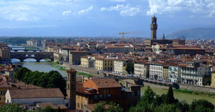 Florence. Panorama of view in florence Royalty Free Stock Images
