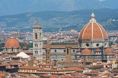 Florence from above. Skyline from above of Florence center captured in june 2011 Royalty Free Stock Image