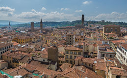 Florence from Above with Hills Royalty Free Stock Photo