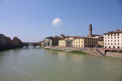 Florence across the Arno River. Stock Images