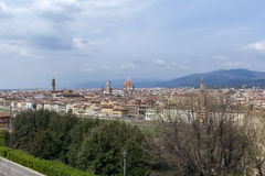 Florence, aeral view Stock Photos