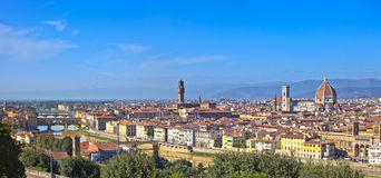 Florence aerial cityscape. Panorama view. Royalty Free Stock Photo