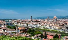 Florence aerial cityscape, Tuscany, Italy Stock Photos