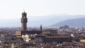 Florence aerial view stock video footage