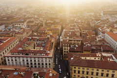 Florence aerial view Royalty Free Stock Image