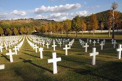 Florence American  Cemetery Royalty Free Stock Image