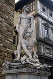 Florence. Ancient statue ofrom the capital of renaissance Stock Images