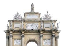 Florence Arc de Triomphe op wit wordt geïsoleerd dat stock foto
