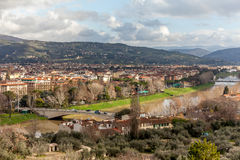 Florence And Arno River Stock Image