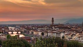 Florence At Sunset Stock Photo