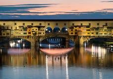 Florence in avond stock fotografie