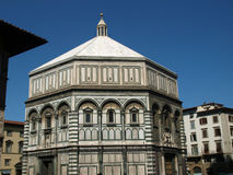 Florence - Baptistery. The Baptistery of San Giovanni in Florence Italy. The florence octagonal baptistery of st john is one of the city's oldest buildings built Stock Photo