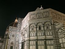 Florence Baptistery and the Cathedral of Santa Maria del Fiore at night Stock Photography