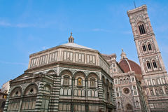 Florence Baptistery the Dome Giotto Tower Stock Image