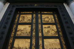 Florence, baptistery, ghiberti doors Royalty Free Stock Photo