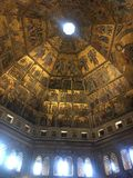Let the light in. Florence Baptistry dome royalty free stock images