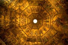 Florence baptysterium wewnętrznych Włoch Obrazy Royalty Free