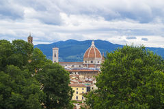Florence from Bardini Gardens. View to Santa Maria dei Fiori from Bardini Gardens Royalty Free Stock Images