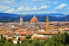 Florence basilikadi Santa Maria del Fiore Arkivfoto