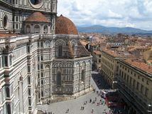 Florence beautiful city view Italy stock images