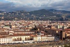 Florence beskådar från över Royaltyfria Bilder