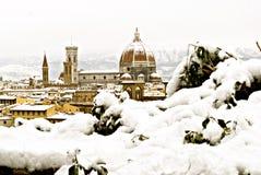 Florence bij de winter stock fotografie