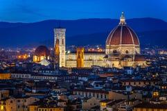 Florence bij nacht royalty-vrije stock foto's