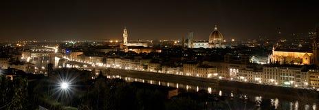 Florence bij nacht stock fotografie