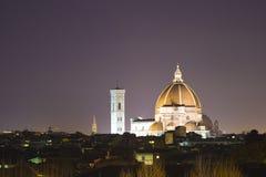 Florence bij nacht royalty-vrije stock afbeelding