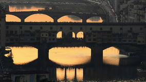 Florence bij zonsondergang stock footage