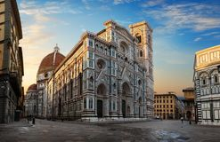 Florence bij zonsopgang royalty-vrije stock afbeelding