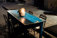 Florence blue table Royalty Free Stock Photo