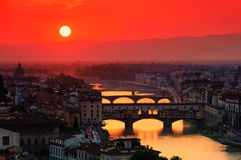 Florence bridge Royalty Free Stock Images