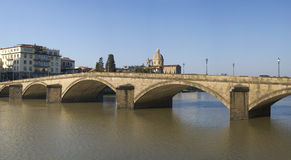 Florence. Bridge on the Arno river Stock Image